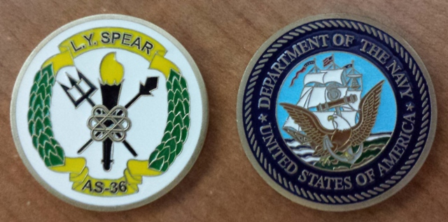 USS L. Y. SPEAR Challenge Coin