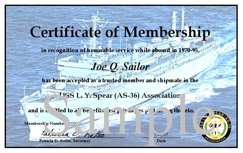 Uss L. Y. Spear (As-36) Association - Association Membership