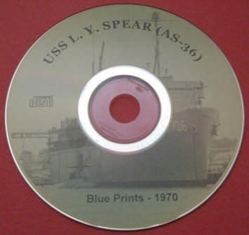 USS L. Y. SPEAR 1970 Blue Prints CD